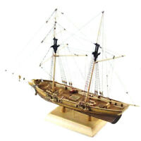 1:70 New Port Wooden Sailing Boat Model DIY Kit Ship Assembly Decoration GiftUS
