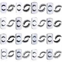 1 Paar 100% Real 3D Mink Soft Long Natural Makeup Eye Lashes Thick False Eyelash