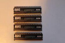 Crucial Ballistix Tracer RAM DDR3-1600MHz 8GB x 4 Sticks Blue/Orange LED (WORKS)