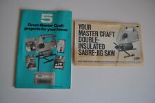Vintage Master Craft Instruction Book Double Insulated Sabre Jig Saw