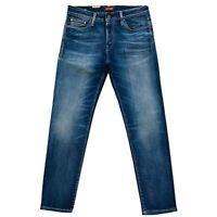 JACK & JONES Homme 'S Mike Icon Confort Coupe Standard Rise Jeans Bleus - Taille