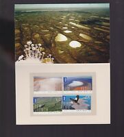 2011 Australia Lake Eyre set International Stamps Dry Growth Bird Flood folder