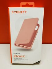Cygnett iPhone X Leather Wallet Case in Pink