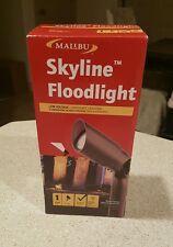 NEW MALIBU 8308-9603-01 20 WATT PRO STYLE SKYLINE AGED BRASS FLOOD LIGHT NEW