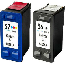 Non-OEM Replaces 56 & 57 For HP Photosmart 130 230 230v 2410 Ink Cartridges