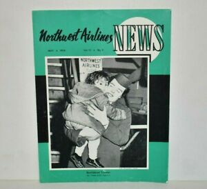 Northwest Airlines News - May 1956 NWA Korean Orphan Airlift Vol 13 No 5
