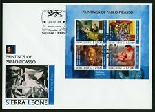 SIERRA LEONE  2019   PAINTINGS OF PABLO PICASSO  SHEET FIRST DAY COVER