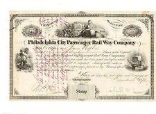 Philadelphia City Passenger Railway Company 1872