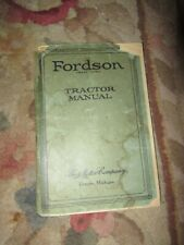 Vintage Fordson Tractor Manual book