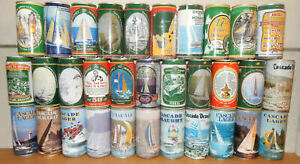 32 SYDNEY TO HOBART Yacht Race beer cans from AUSTRALIA (375ml)  Empty !!