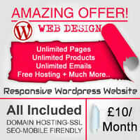 WordPress Website Design | Responsive Website | Web Design Just £10/Month