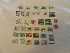 Lot of 36 East Germany Stamps from 1978-1982 Animals, Ships, Roosters, More