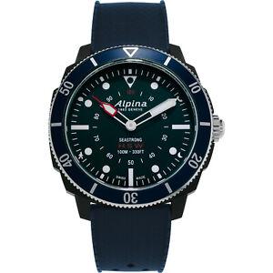 Alpina Men's Quartz Caliber Seastrong Horological 44mm Smart Watch AL-282LNN4V6