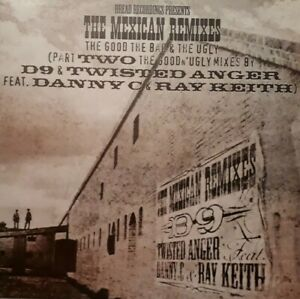 """Twisted Anger Danny C & Ray Keith-The Mexican Remixes 12"""" Single.Dread DREAD044R"""