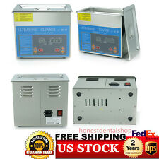 PRO Stainless Steel 3 L Liter Industry Heated Ultrasonic Cleaner Heater w/Timer