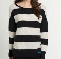 Superdry Womens Edie Crew Black Jumper Sweater Top Size XS *NCN