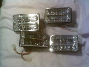 Lot of 4 Whelen 400 Series Freedom Super LED Lightheads   6X6 Amber