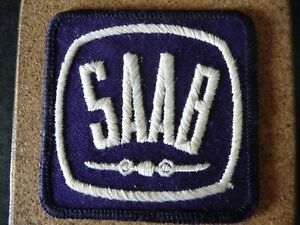 Vintage SAAB Sew -on Badge for overalls or jacket.