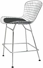 Harry Bertoia Chromed Steel Wire Frame Counter Height Stool - set of 2