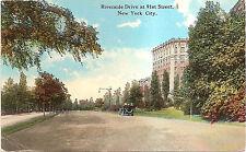 Riverside Drive at 91st Street - New York City NYC, NY Divided Back DB Postcard