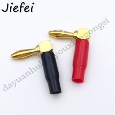 20pcs Right Angle 4mm banana plug connector for Audio, video test adapter