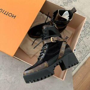 Louis Vuitton Women Laureate Platform Desert Boot IT 36 US 6 FR 37 UK 3