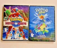 Pokémon Destiny Deoxys and Pokémon 4ever Bundle - DVD Widescreen - New Sealed!