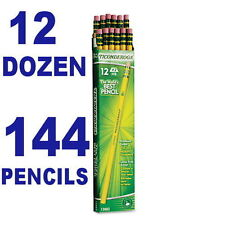 12 dozen (=144) Woodcase Pencil,Hb #2, Yellow Barrel, DIX13882,Dixon Ticonderoga