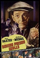 Behind Prison Walls (1943) DVD Alan Baxter, Gertrude Michael, & Tully Marshall