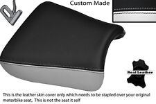 WHITE & BLACK CUSTOM FITS SUZUKI GS 1200 SS 01-02 FRONT LEATHER SEAT COVER