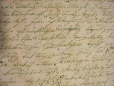 VINTAGE SCRIBE WRITING SAGE COTTON FABRIC FQ