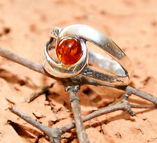 Size 9 1/4 Weight 3.4 g Genuine Baltic Amber 925 Sterling Silver Ring