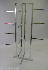 "Folding Lingerie Clothes Hanger Rack 16 Adjustable 12"" Straight Arms Chrome New"