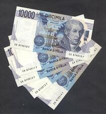 ITALY  Lot of 5 Notes 10.000 Lire Volta  FDS (UNC)