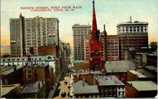 1911. 4TH STREET. WEST FROM MAIN. CINCINNATI, OH. POSTCARD. SZ13