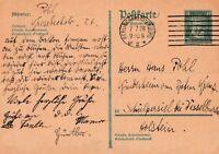 Postkarte Deutsches Reich 1928 verschickt von Berlin nach Schülpersiel Holstein