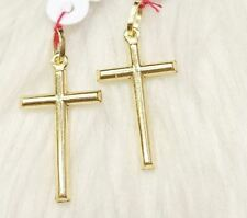 SOLID 18K Saudi Gold Pendant -   Gold Cross- 1 grm (1 pc only)