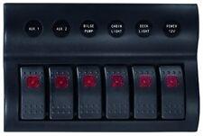 Schalttafel Schaltpanel 6-fach 12 Volt mit LED Inndikator Bootszubehör Neu
