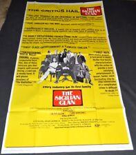 THE SICILIAN CLAN 1970 ORIGINAL 41x81 MOVIE POSTER! JEAN GABIN CRIME ACTION!