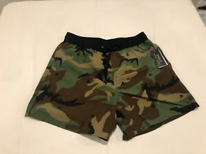 NWT $85.00 Polo Ralph Lauren Mens Classic Swim Trunks Camo / Skull Size LARGE