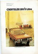 CHRYSLER 180/2-LITRE SALES BROCHURE