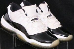 Nike 528896-153 Air Jordan XI 11 Retro Low White Sneaker Shoes Youth US 5.5Y