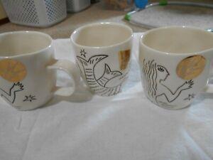 (3)STARBUCKS MERMAID SIREN TAIL COFFEE CUP NWT