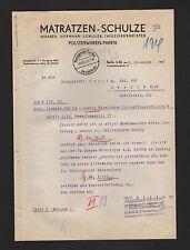 BERLIN, Brief 1937, Matratzen-Schulze Hermann Schulze Tapezier-Meister