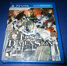 Lost Dimension Sony PlayStation Vita *Factory Sealed *Free Shipping!