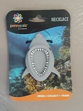 Pennybandz Elongated Pressed Penny Necklace Shark. Fast Shipping!