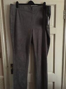 "NYDJ Women's Taupe Ashwood Moleskin Slimming Fit Trouser UK24 W42"" L32"" RRP £140"