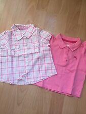 Baby Set Aus Bluse+Poloshirt Gr.68 von H&M pink Top Zustand!!!