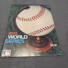 1974 World Series Program Los Angeles Dodgers/Oakland Athletics