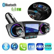 Bluetooth Handsfree Car Kit Fm Transmitter Modulator Aux Audio Usb Mp3 Player